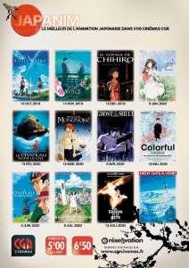 Des projections mensuelles de films d'animation japonaise dans les cinémas CGR