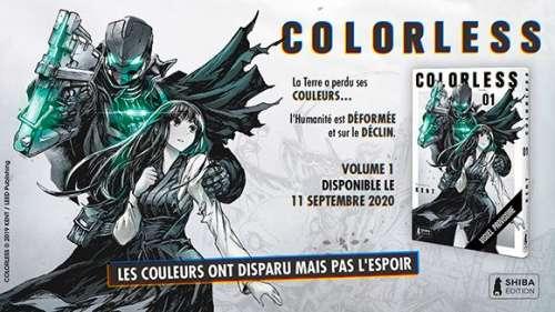 Shiba édition nous présente son nouveau titre : Colorless