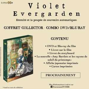 Le coffret collector du film Violet Evergarden - Éternité et la Poupée de Souvenirs Automatiques dévoile ses bonus