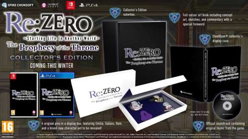 Le jeu Re:ZERO: The Prophecy of the Throne sortira en Occident en édition collector !