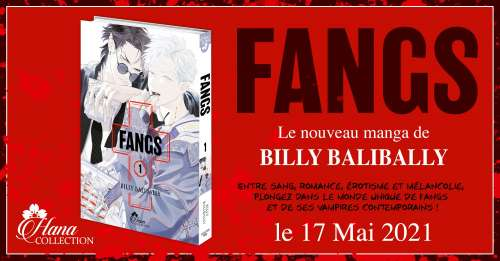 FANGS, nouveau manga de Billy Balibally chez Boy's Love