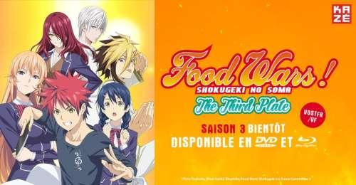 La saison 3 de Food Wars! en DVD & Blu-ray chez Kazé