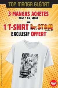 Glénat vous offre des t-shirts Dr.STONE