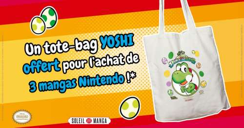 Soleil Manga vous offre des tote bags Yoshi