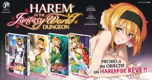 Le manga Harem in the Fantasy World Dungeon annoncé par Meian