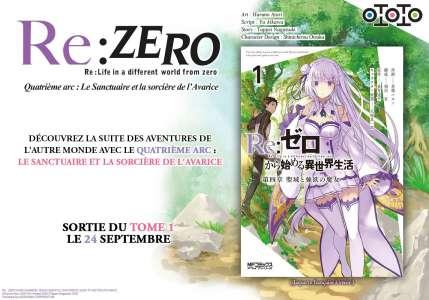 Le quatrième arc du manga Re:Zero annoncé par Ototo