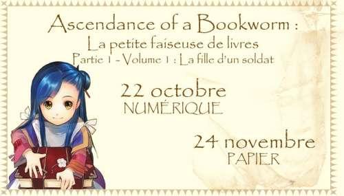 Des dates de sortie pour le light novel Ascendance of a Bookworm