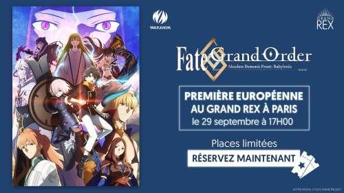 Les trois premiers épisodes de la série animée Fate/Grand Order Absolute Demonic Front: Babylonia projetés au Grand Rex en fin de mois