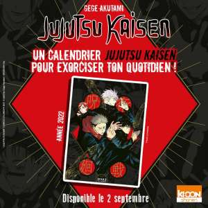 Un calendrier Jujutsu Kaisen chez Ki-oon