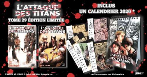 Une édition limitée pour L'Attaque des Titans 29