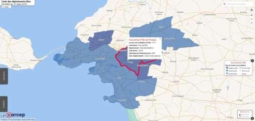 Fibre optique : cette carte permet de connaître l'état du déploiement du réseau près de chez vous
