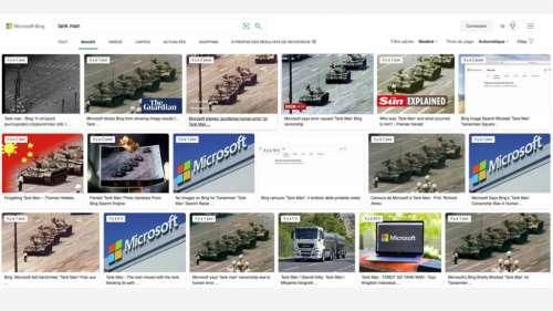 Pourquoi le moteur de recherche Bing a bloqué la célèbre photo de Tian'anmen