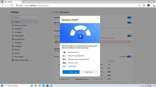 Microsoft Edge vous prévient si vos mots de passe sont bâclés