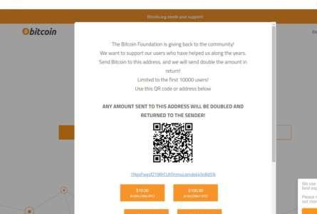Le site très connu « bitcoin.org » a été piraté pour tenter d'escroquer des internautes