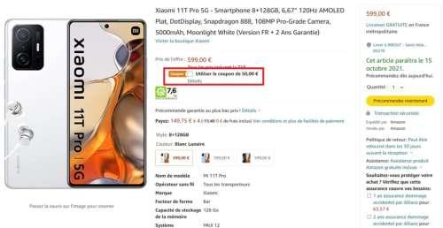 Xiaomi 11T Pro : le smartphone qui se recharge en 17 minutes est 120 € moins cher