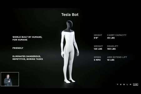 Tesla Bot: Elon Musk va lancer un robot humanoïde qui peut faire vos courses à votre place