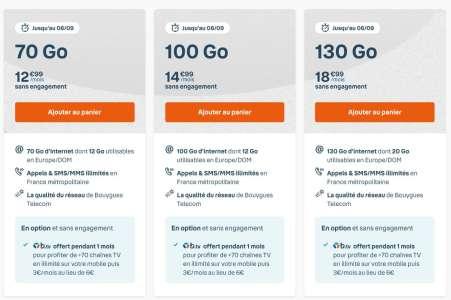 Bouygues Telecom casse le prix de ses 4 forfaits sans engagement (top rentrée)