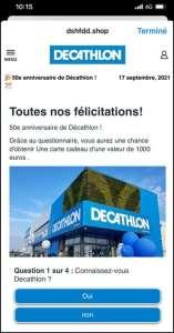Arnaque: un faux jeu-concours Decathlon tourne sur Facebook