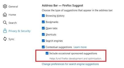 Des publicités sur la barre d'adresse, la très mauvaise idée de Mozilla Firefox?