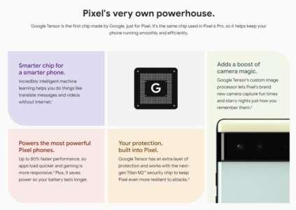 Pixel 6 / Pro: nouveautés photo, Tensor, autonomie… on sait tout grâce une gaffe