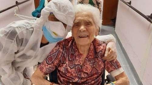 Après avoir survécu aux deux guerres, cette mamie de 104 ans combat le coronavirus