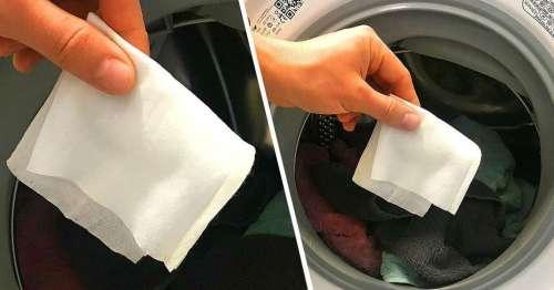 Voici pourquoi mettre une lingette humide dans la machine à laver peut vous faire gagner du temps et de l'énergie