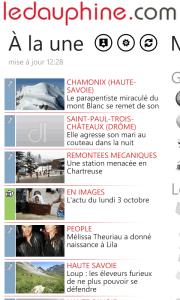 Le Dauphiné Libéré quitte la plateforme Windows Phone