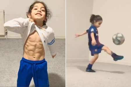 Arat Hosseini : À 6 ans, ses abdos impressionnent Lionel Messi
