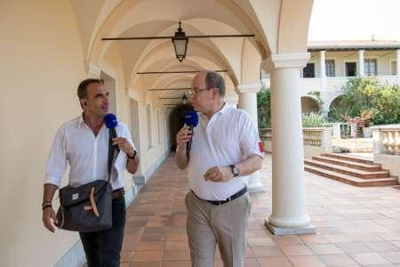 Nikos Aliagas en balade avec S.A.S le prince Albert de Monaco, le lundi 2 juillet sur Europe 1