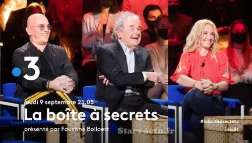 « La Boîte à Secrets » du 9 septembre 2021 : les invités de Faustine Bollaert ce soir (vidéo)