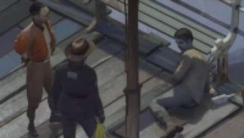 Le cadavre sur la promenade