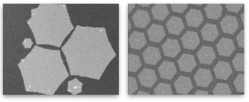 Contrôler la croissance du graphène sur cuivre liquide
