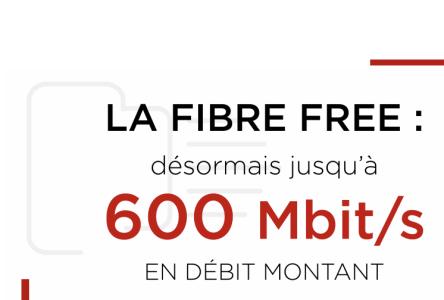 Free augmente le débit montant de tous ses abonnés Fibre jusqu'à 600 Mbit/s