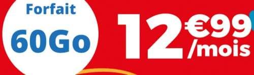 Auchan Télécom propose un forfait 60 Go à 12,99 euros